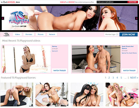 TS Playground by Evil Angel - One of the Best Shemale Porn Sites